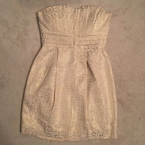 Max & Cleo Strapless Part Dress
